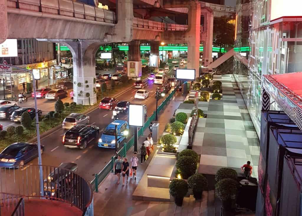 In der Shopping Gegend in Bangkok