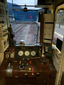 Fahrstand der jap. Bimmelbahn