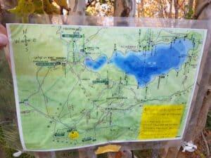 Aokigahara-Karte eines freundlichen Wanderers