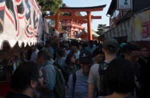 viel los am Fushimi Inari Taisha