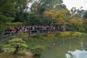 alle wollen ein Foto vom Kinkaku-ji Pavillion