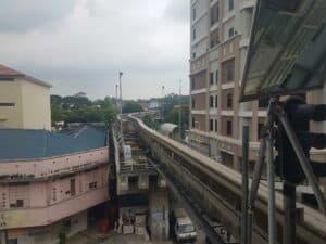 Monorail Gleis in Kuala Lumpur