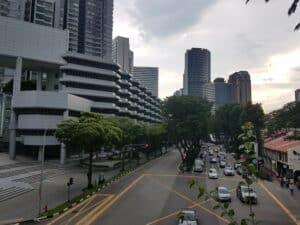 Zurück in Singapur nach der Fernbus Fahrt aus Malaysia