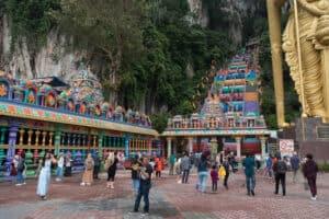 Treppe vor der Batu Höhle in Kuala Lumpur