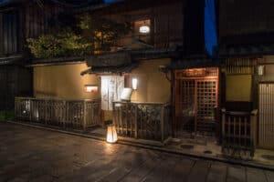 Restaurant in Gion, dem Geisha District von Kyoto