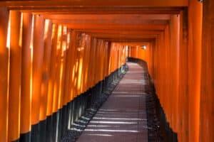 durch diese rote Gasse - Fushimi Inari Taisha