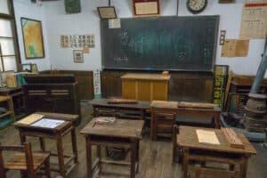 Klassenzimmer der Showa Periode
