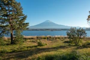 Der Fuji vom See aus