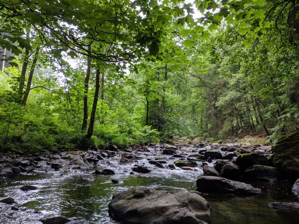 Die Rur in Monschau in der Eifel
