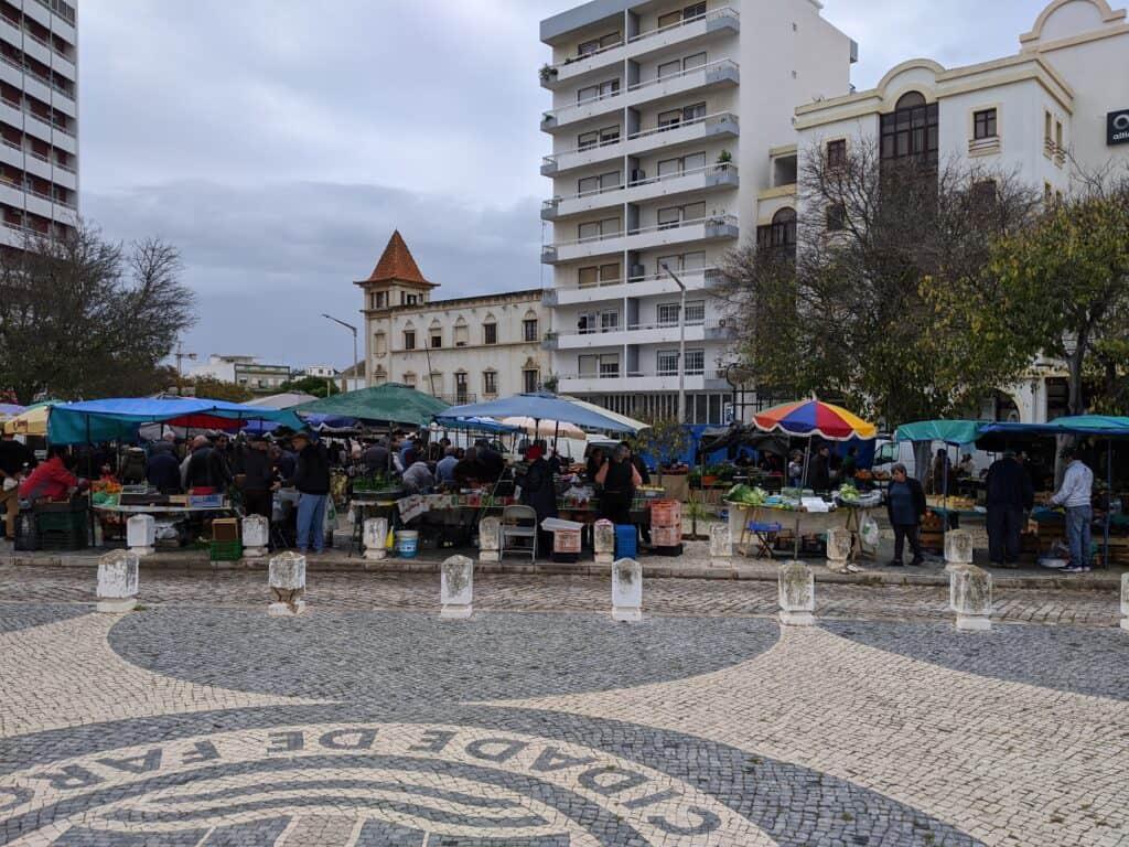 Wochenmarkt in Faro, Portugal