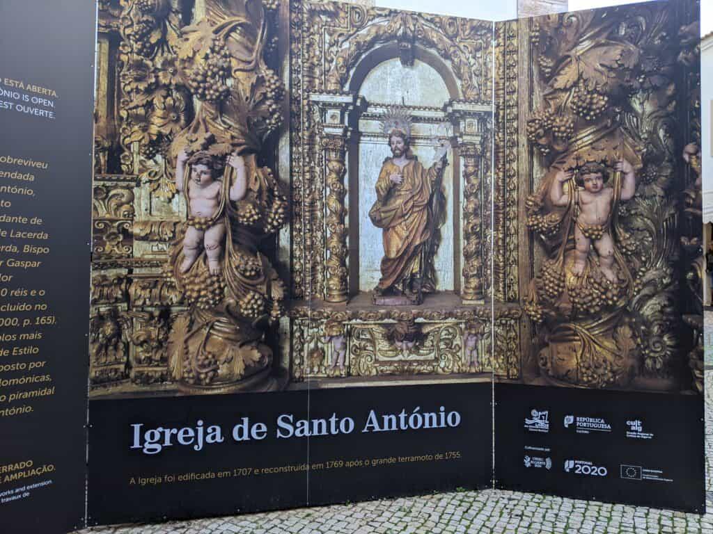 Plakat zur Igreja de Santo António in Lagos, Portugal