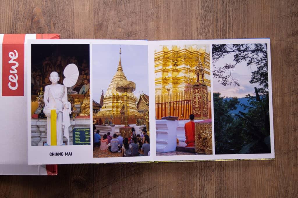 Innenansicht eines CEWE Fotobuch aus dem Test und Erfahrungsbericht